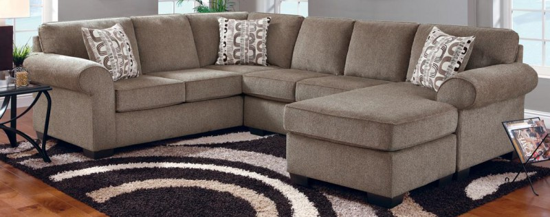 Affordable   SECTIONAL SOFA, CHAISE,CHAISE BASE JESSE COCOA