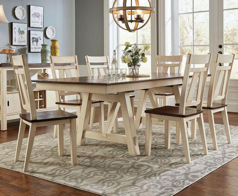 American Imports   DINING TABLE & 6 CHAIRSLAUREL MANOR II