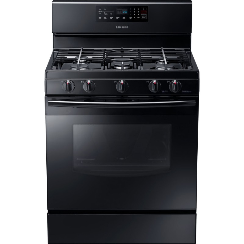Samsung 5.8 cu. ft. Gas Range with Self-Clean Oven-Black