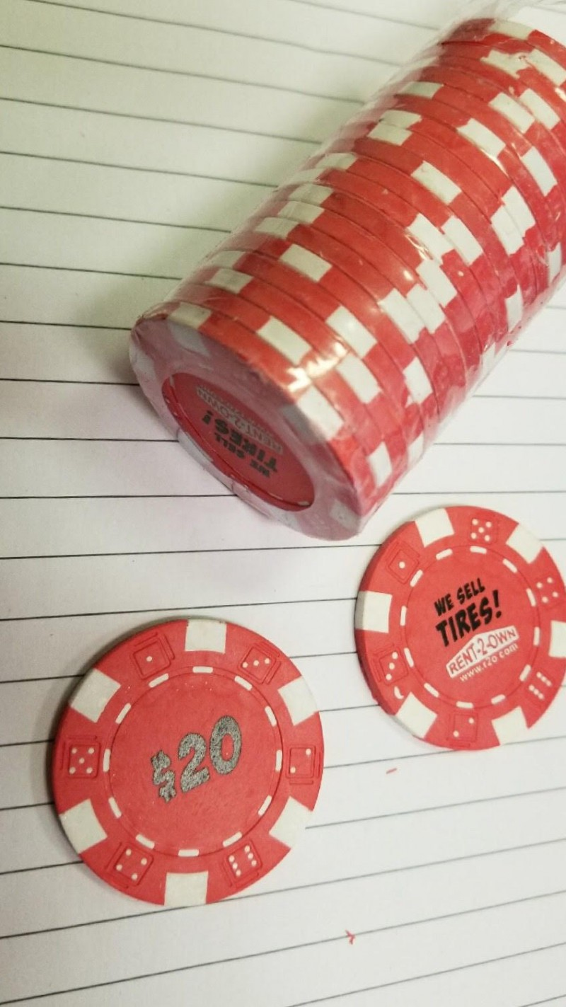 Tire Poker Chips (qty of 100)