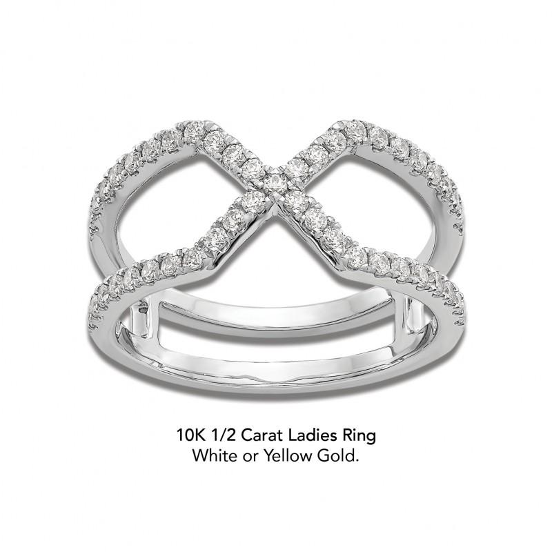LR448GO Ladies Fashion Ring 10K 1/2CTTW