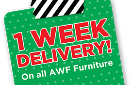 1week delivery on all awf furniture