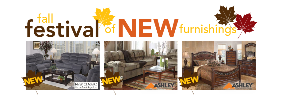 Fall Festival of NEW Furnishings