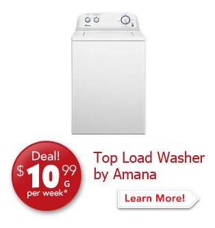 Top Load Washer by Amana Deal! $10.99 per week.