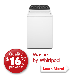 Washer by Whirlpool Quality $16.99 per week.
