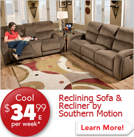 Reclining Sofa and Recliner by Southern Motion $34.99