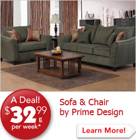 Sofa and Chair by Prime Design $32.99