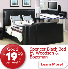 Spencer Black Bed by Woodsen and Bozeman