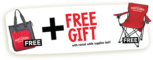 free gift with rental while supplies last