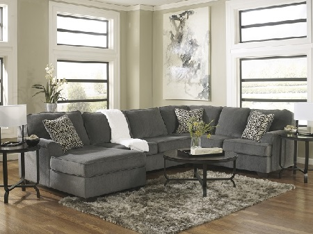 Rent Signature Design Loric 3 Piece Sectional Smoke Living Room