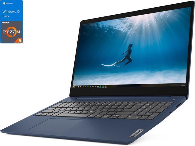 "Lenovo   Lenovo Ideapad 15.6"" FHD Laptop - AMD Ryzen 5 5500U 2.1GHz -  8GB Memory -  256GB SSD - AMD Radeon 7 Graphics - WIN10 - Blue"