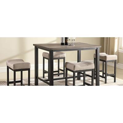 American Imports | rustic walnut pub  table & 4 stools