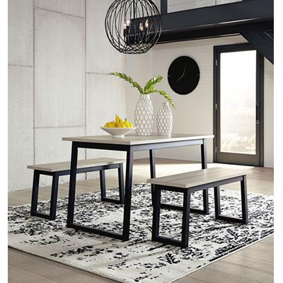 Signature Design   Waylowe Table w/ 2 benches