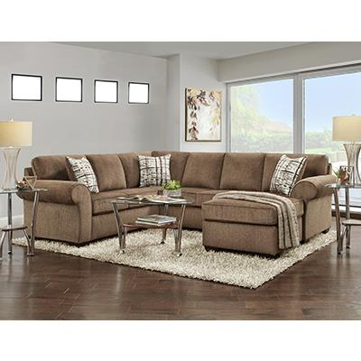 Affordable SILVERTON COFFEE 3 Piece Chaise Sectional