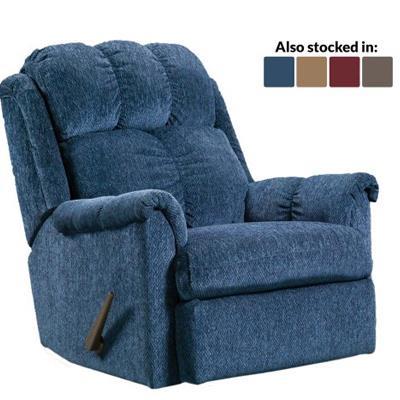 American | Blue rocker recliner