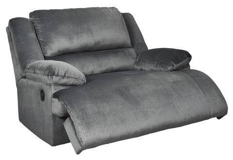 Signature Design   Clonmel Charcoal Zero Wall Wide Seat Recliner