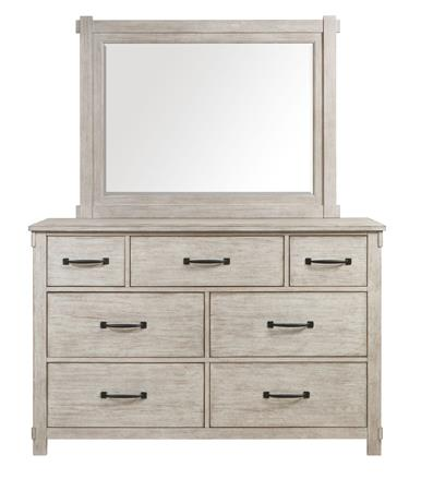 American Imports   COTTAGE BAY WHITE Mirror