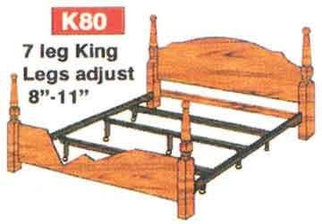 AWF   KING HOOK-IN RAILS W/7LEG CENTER SUPPORT