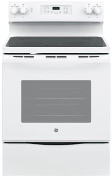 GE Appliances | 30 Radiant Top 4 Burners 5.0 Self Clean White