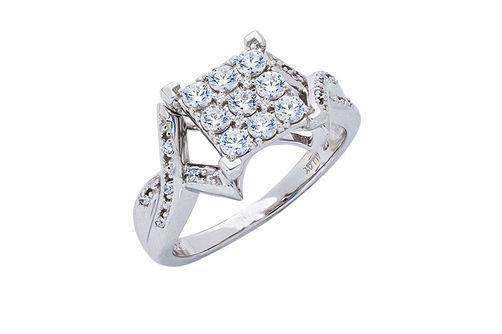 New Generations White Sapphire and Diamond Fashion Ring