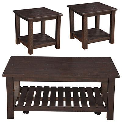 Martin Svensson Home Barn Door Espresso  Coffee Table/ End Tables