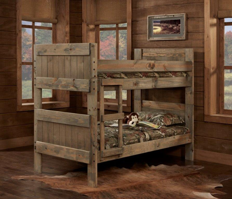Rent simply bunk beds twin twin mossy oak panel bunk bed for Furniture 123 bunk beds