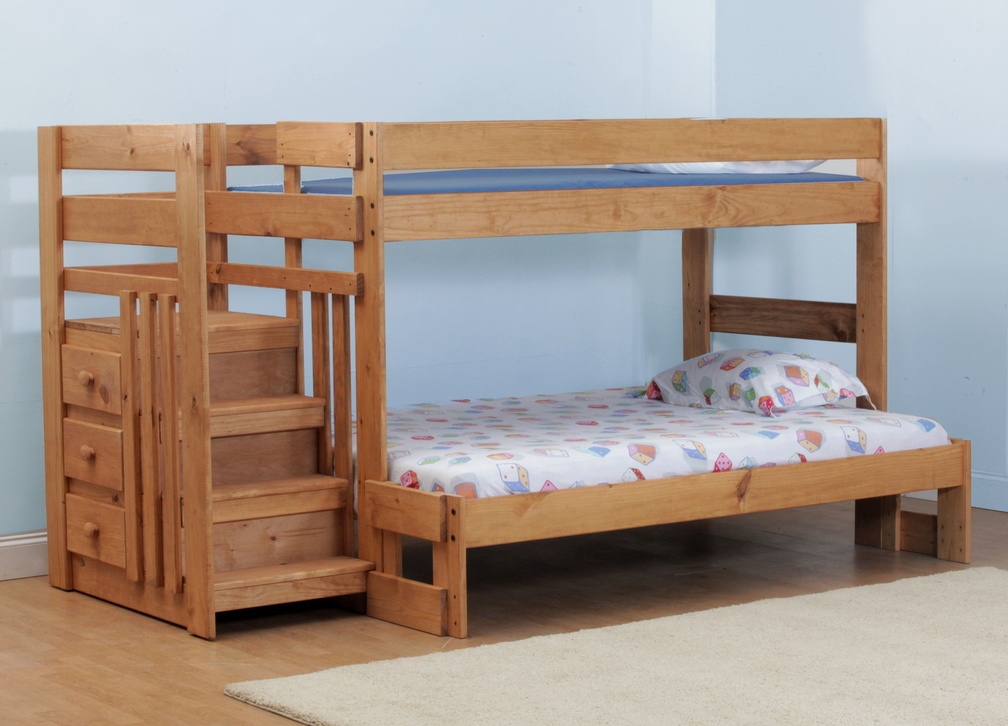 rent simply bunk beds twin/full stair bunk bed | inactive special