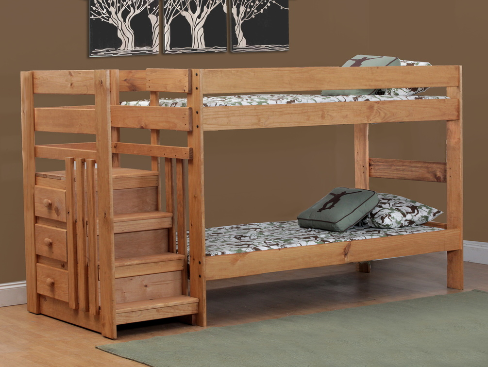 Simply Bunk Beds Twin Twin Mossy Oak Panel Bunk Bed