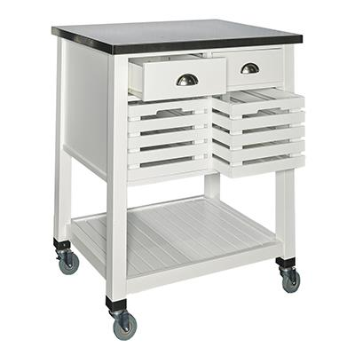 Powell   Robbin Wood Kitchen Cart