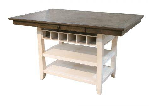 American Imports | PUB TABLE TOP LAKEWOOD GRAY/WHITE