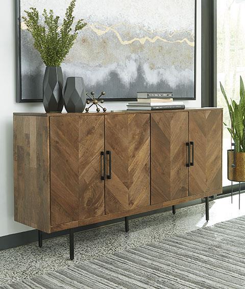 Signature Design | accent cabinet  - pratville Brown