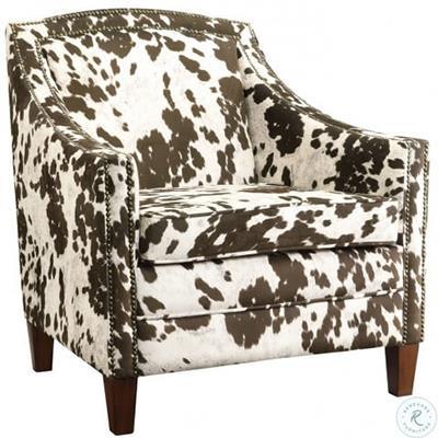 Coaster   Brown & White Cow Chair