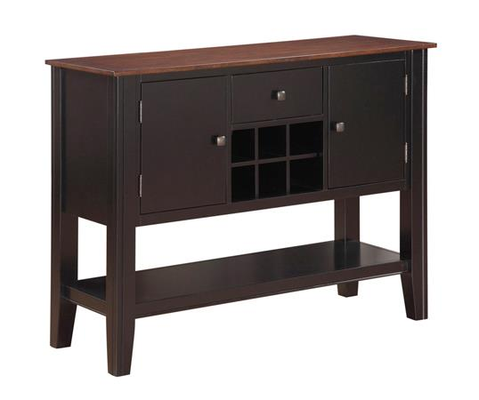 American Imports   BLACK & CHERRY SIDEBOARD