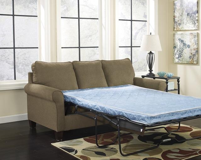 Elegant Rent Signature Designs Zeth Queen Sleeper Sofa Basil Green