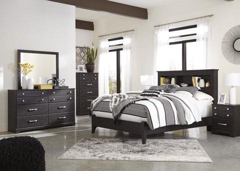 Signature Design Reylow Dark Brown Queen Bed
