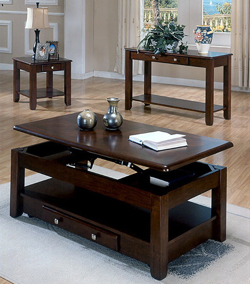 Rent American Wholesale Furniture Espresso Lift Top Cocktail Table Occasional Tables Furniture
