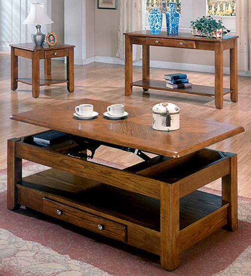 American Whole Furniture Oak Lift Top Coffee Table
