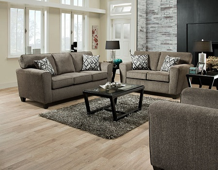 Cornell Pewter Sofa and Loveseat