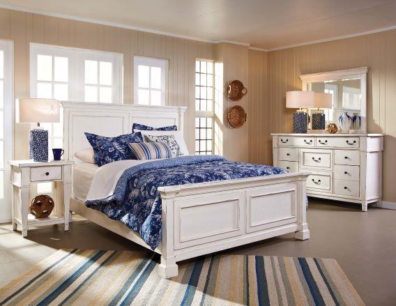 American Imports | Stoney Creek White Dresser Mirror