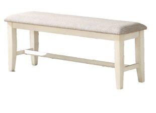 American Imports   DINING BENCH LAKEWOOD GRAY/WHITE