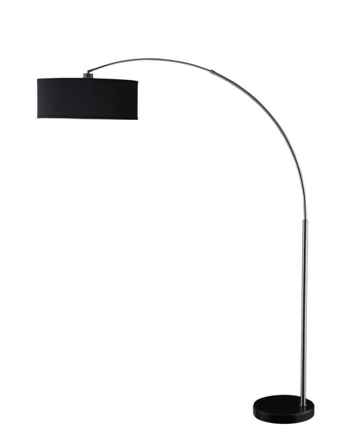 Coaster   Black and silver floor lamp
