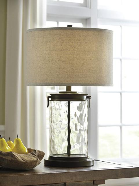 Signature Design Tailynn Clear Bronze Lamp