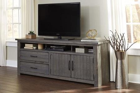 Progressive Furniture | Nest Dark Gray 74 TV Cart