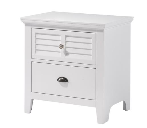 American Imports | NIGHTSTAND COTTAGE BAYWHITE