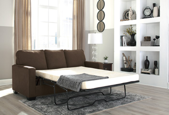 Rent Ashley Furniture Zeb Espresso Queen Sleeper Sofa Living Room