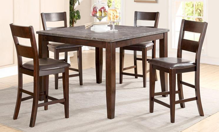 American Imports   PUB TABLE & 4 CHAIRS BLUE STONE