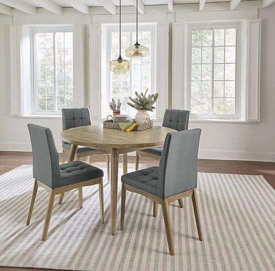 Progressive Furniture   Barcelona Oak Finish Gray Upholstered Chairs