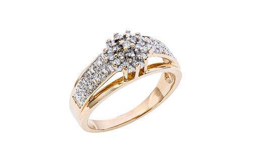 New Generations Diamond Cluster Ring