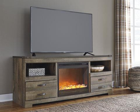 Signature Design | Trinell Brown 64 w/ Fireplace Insert
