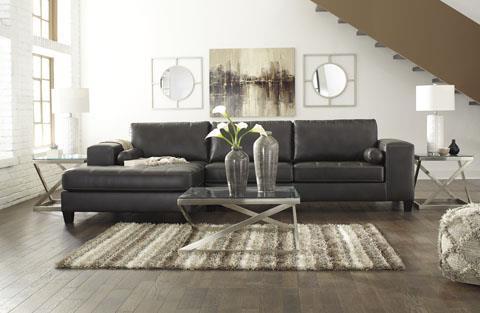 Signature Design | Nokomis Charcoal Chaise Sectional